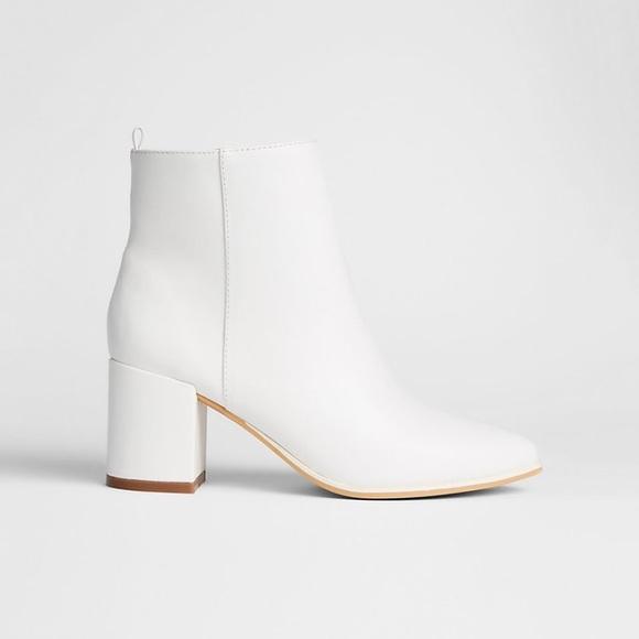 White Mod Ankle Boots | Poshmark